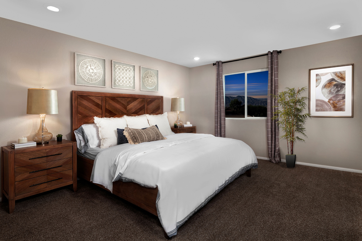 New Homes in North Las Vegas, NV - Aurora Heights Plan 1644 Master Bedroom