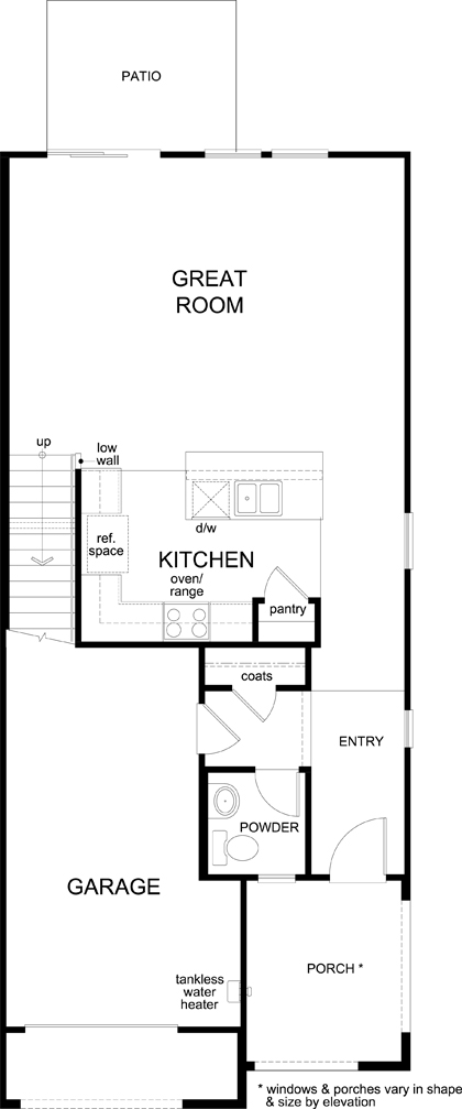 New Homes in Las Vegas, NV - Plan 1673 End Unit Modeled, First Floor