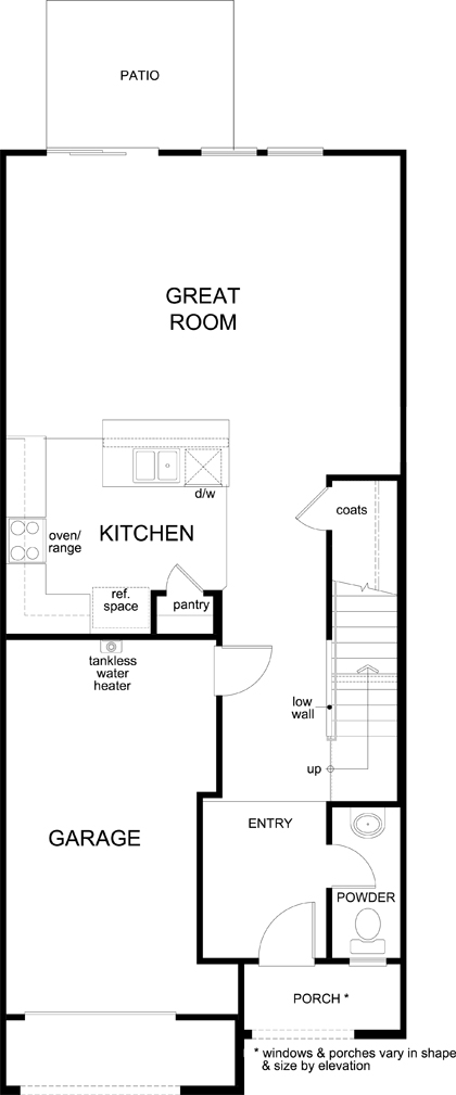 New Homes in Las Vegas, NV - Plan 1713 Interior Unit, First Floor