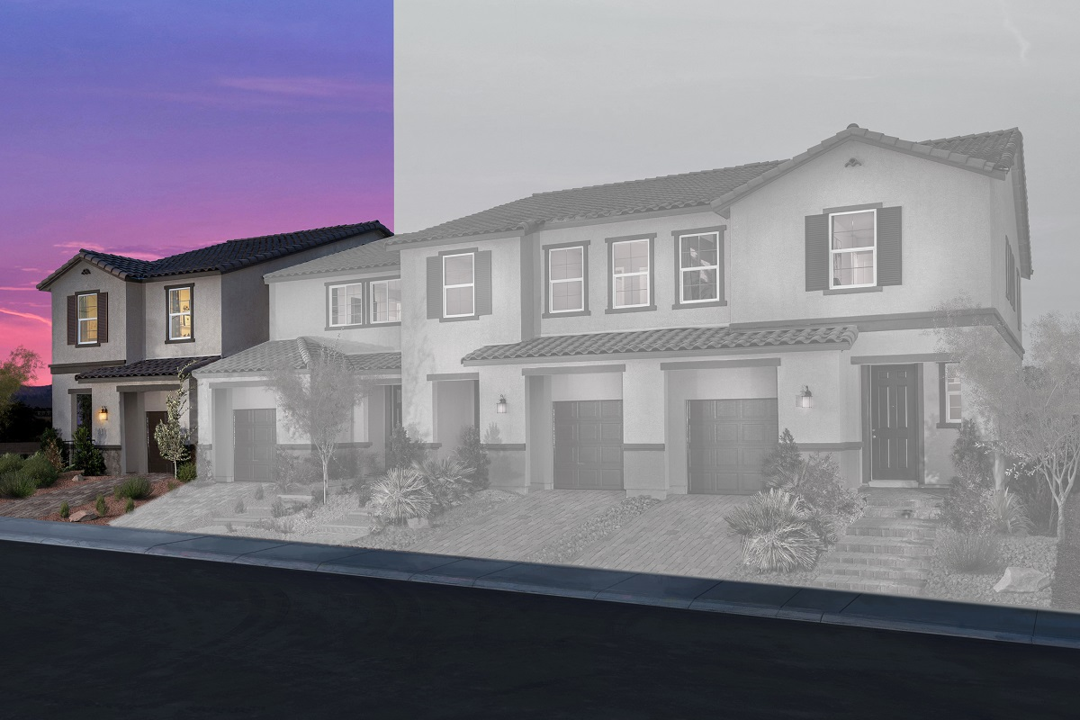 New Homes in Las Vegas, NV - Autumn Winds Plan 1673 End Unit