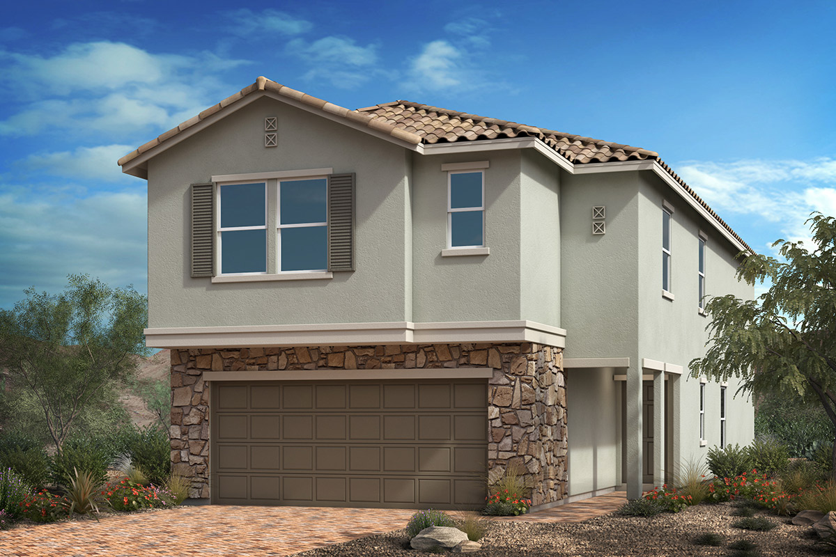 New Homes in Las Vegas, NV - Bremerton Plan 2469 Elevation B with optional stone
