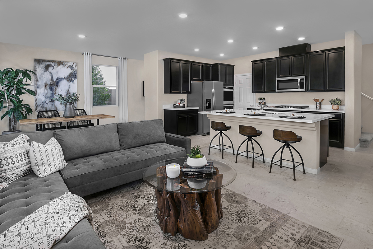 New Homes in Las Vegas, NV - Bristle Vale at Summerlin - Collection I Plan 1787 Great Room