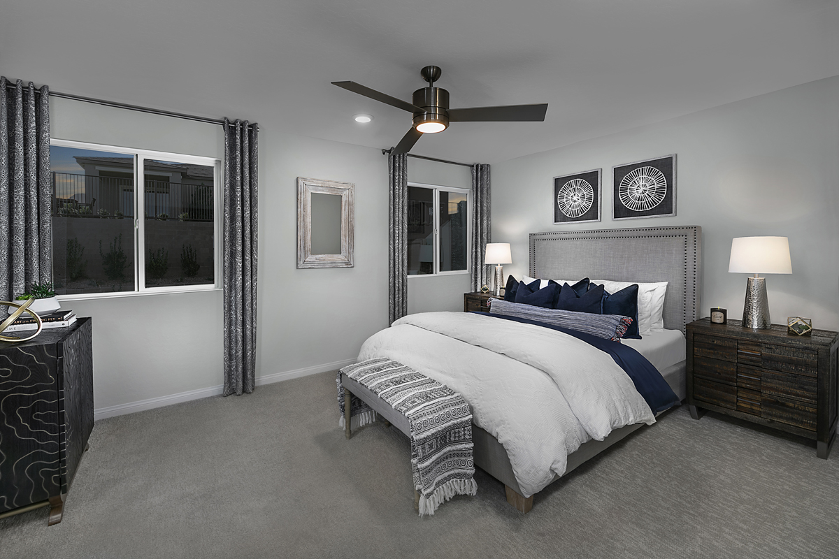 New Homes in Las Vegas, NV - Bristle Vale at Summerlin - Collection I Plan 1787 Master Bedroom