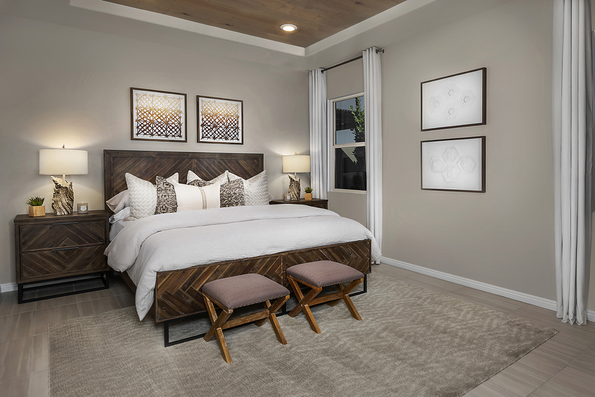 New Homes in Las Vegas, NV - Bristle Vale at Summerlin - Collection II Plan 1858 Master Bedroom