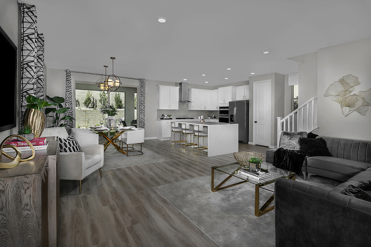 New Homes in Las Vegas, NV - Bristle Vale at Summerlin - Collection I Plan 2114 Great Room