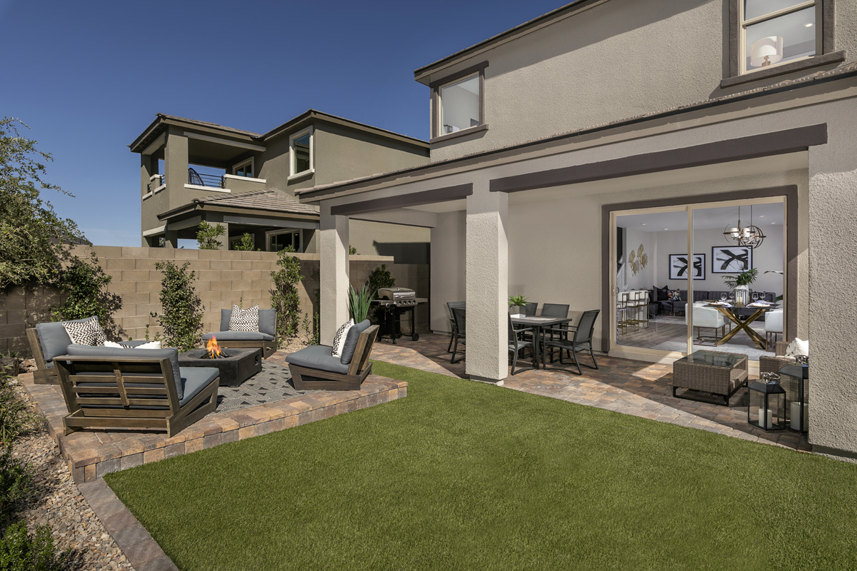 New Homes in Las Vegas, NV - Bristle Vale at Summerlin - Collection I Plan 2114 Backyard