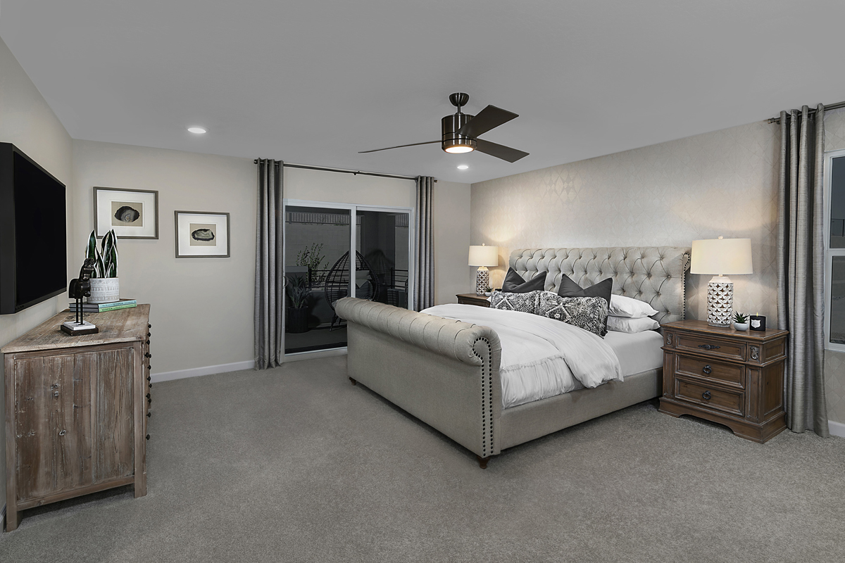 New Homes in Las Vegas, NV - Bristle Vale at Summerlin - Collection I Plan 2466 Master Bedroom