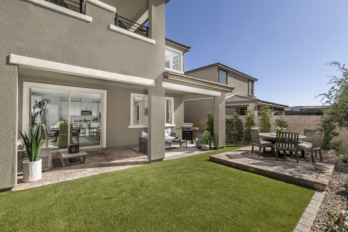 New Homes in Las Vegas, NV - Bristle Vale at Summerlin - Collection I Plan 2466 Backyard