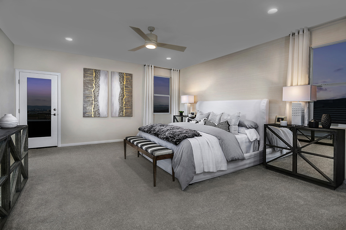 New Homes in Las Vegas, NV - Bristle Vale at Summerlin - Collection II Plan 3063 Master Bedroom