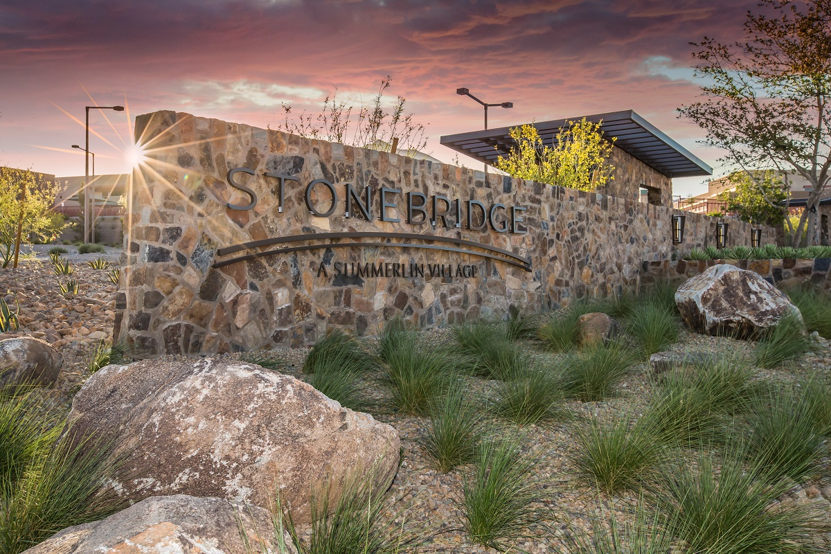 New Homes in Las Vegas, NV - Bristle Vale at Summerlin - Collection II Stonebridge Monument