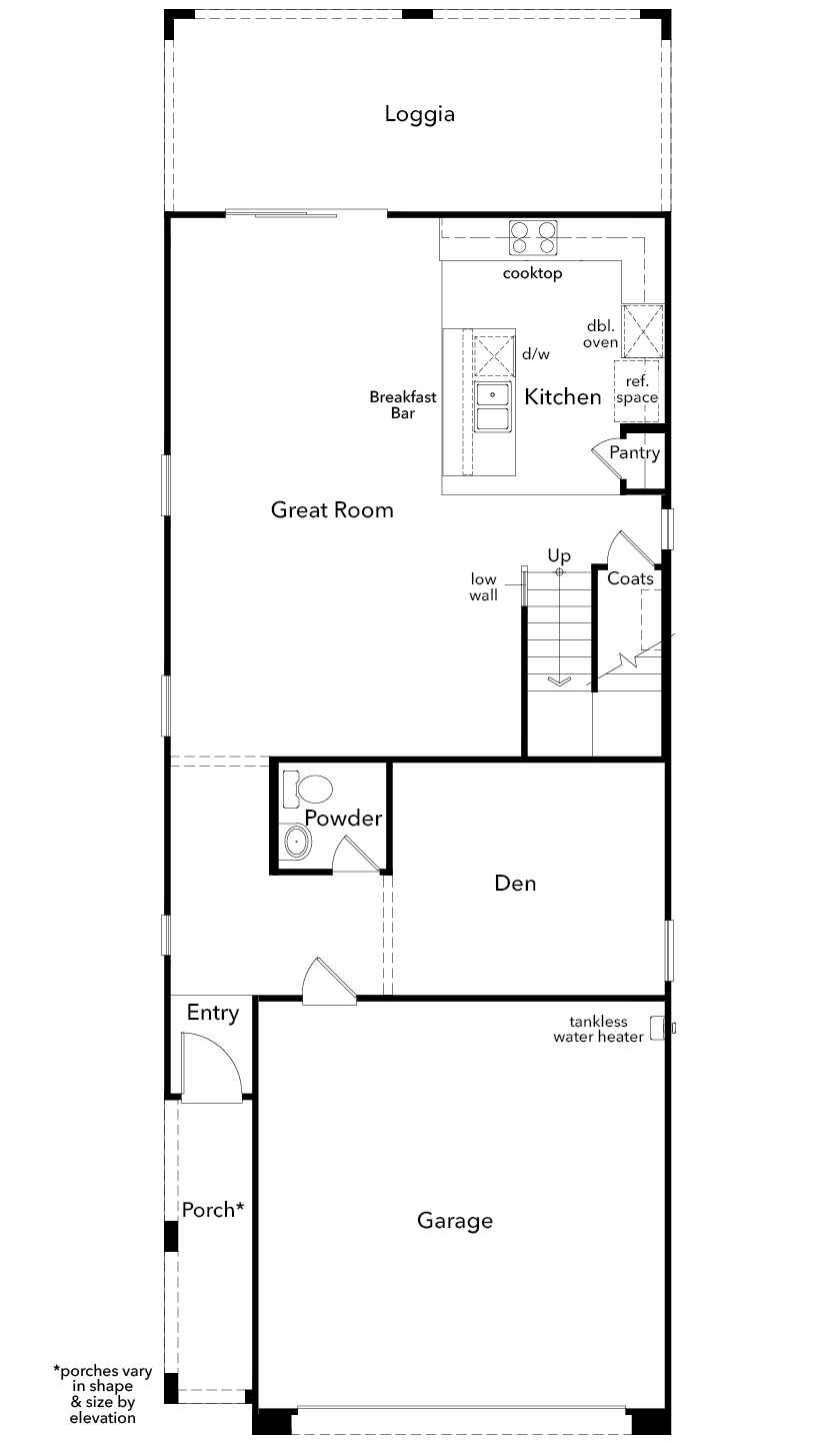 New Homes in Las Vegas, NV - Plan 2114 Modeled, First Floor