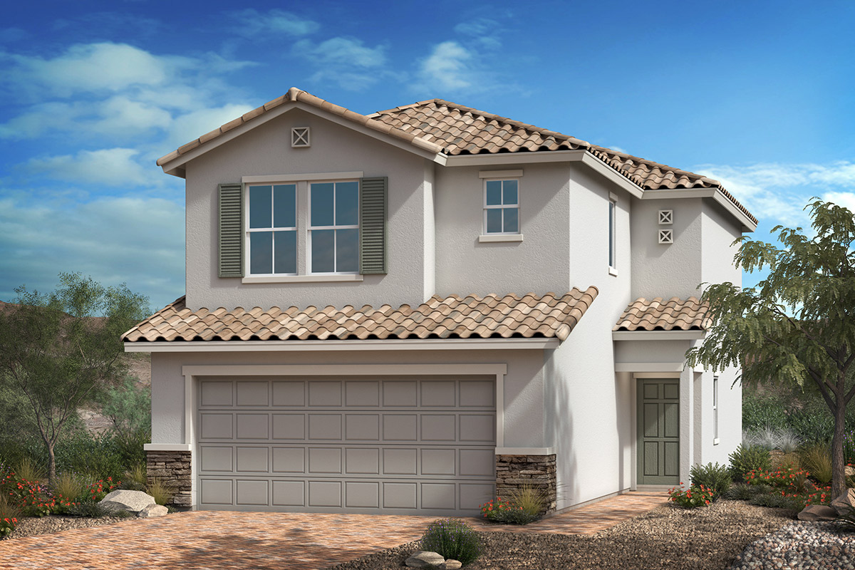 New Homes in Las Vegas, NV - Cactus Landings Plan 1455 Elevation B