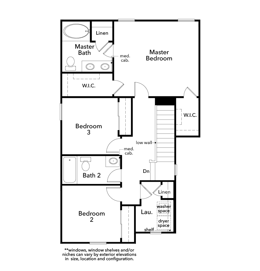 New Homes in Las Vegas, NV - Plan 1455, Second Floor