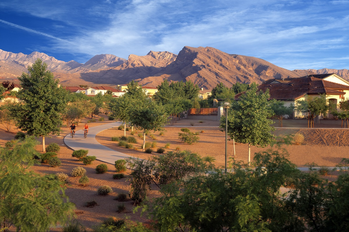 Amenity trails at KB Home community in Las Vegas, NV