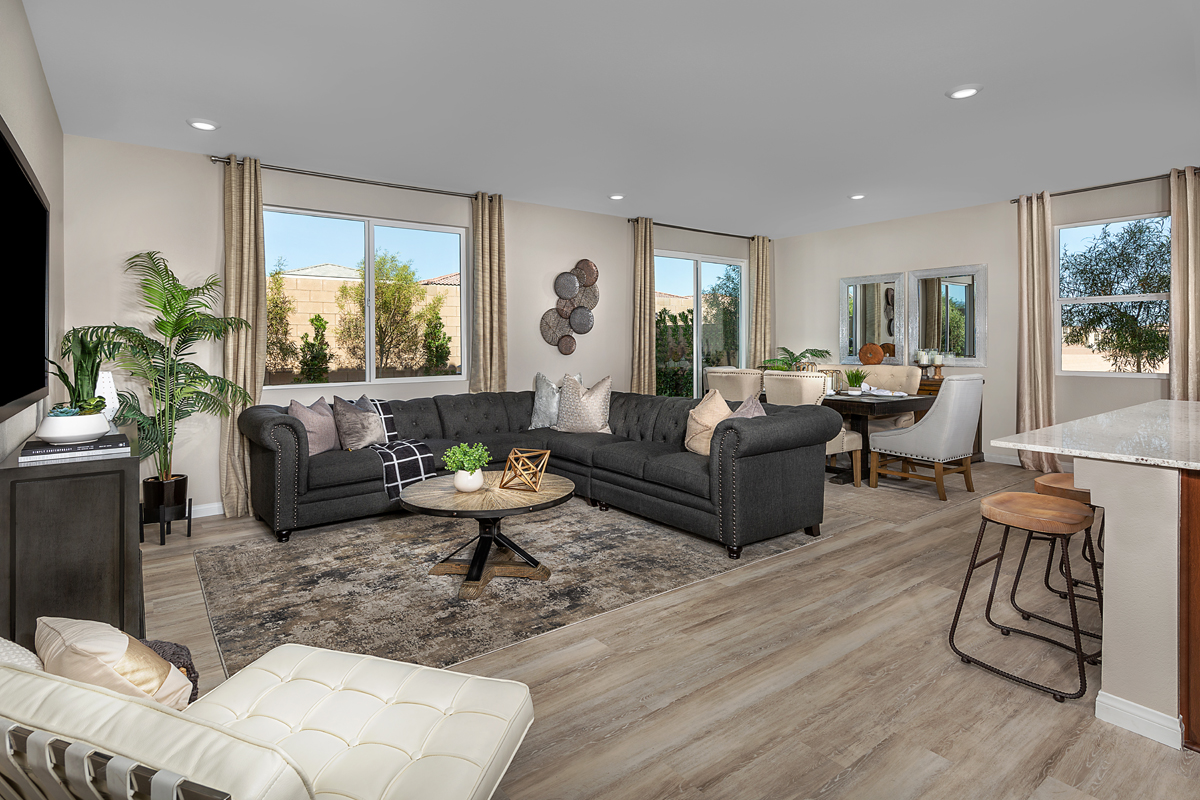 New Homes in Las Vegas, NV - Cattara Plan 2469 Great Room