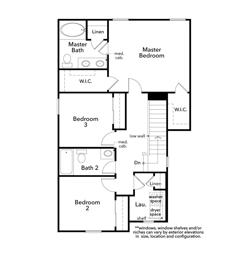 New Homes in Las Vegas, NV - Plan 1416, Second Floor