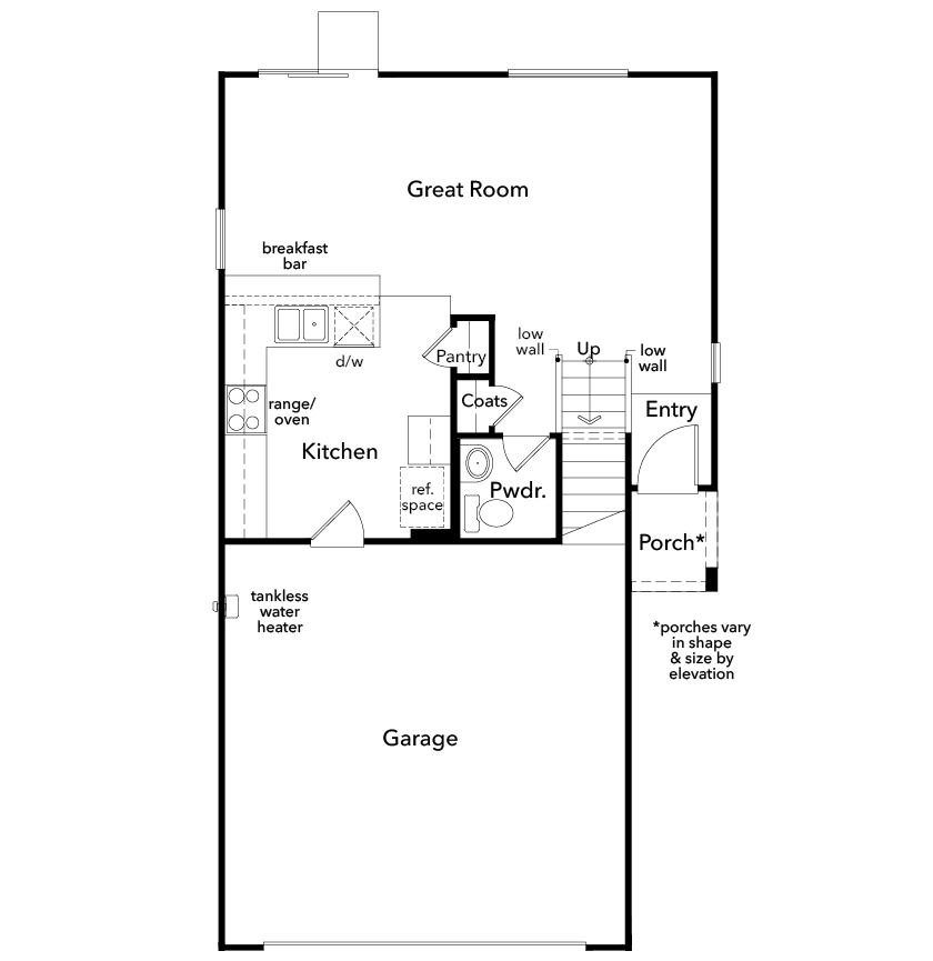 New Homes in Las Vegas, NV - Plan 1416, First Floor