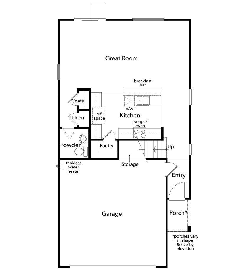 New Homes in Las Vegas, NV - Plan 1768, First Floor