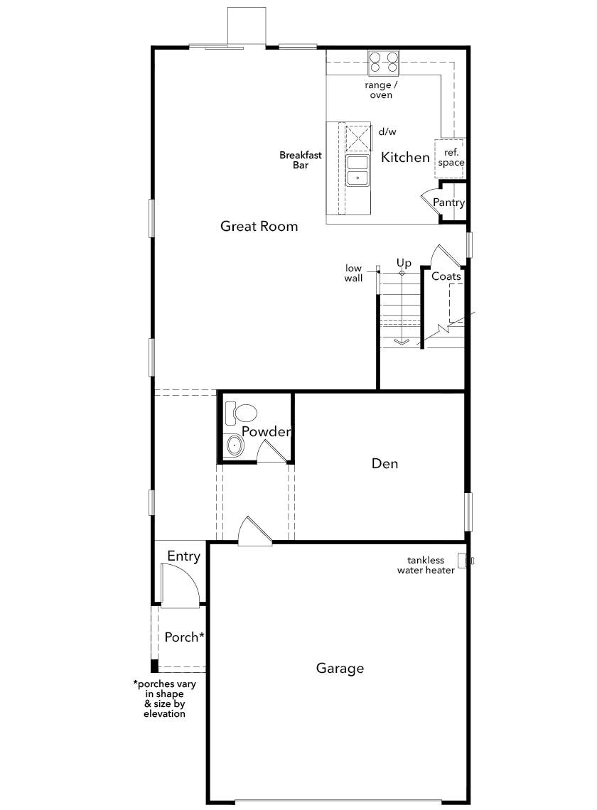 New Homes in Las Vegas, NV - Plan 2114, First Floor