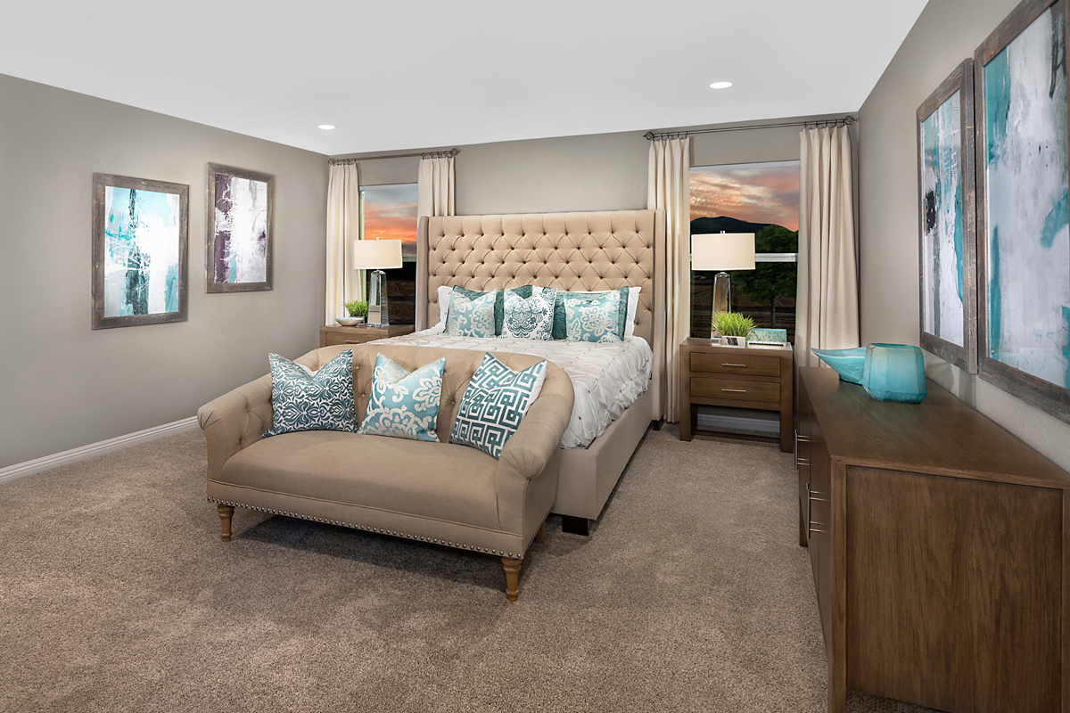 New Homes in Las Vegas, NV - Cumberland Ranch Plan 2469 Master Bedroom