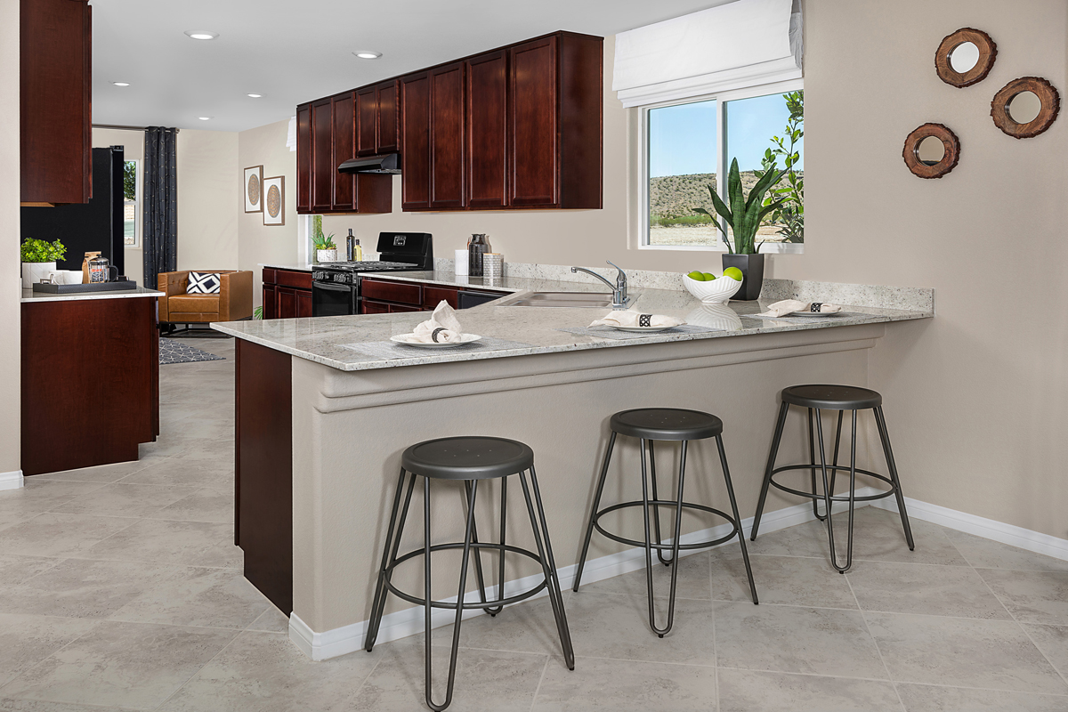 New Homes in Las Vegas, NV - Reserves at Durham Ranch Plan 1589 Kitchen