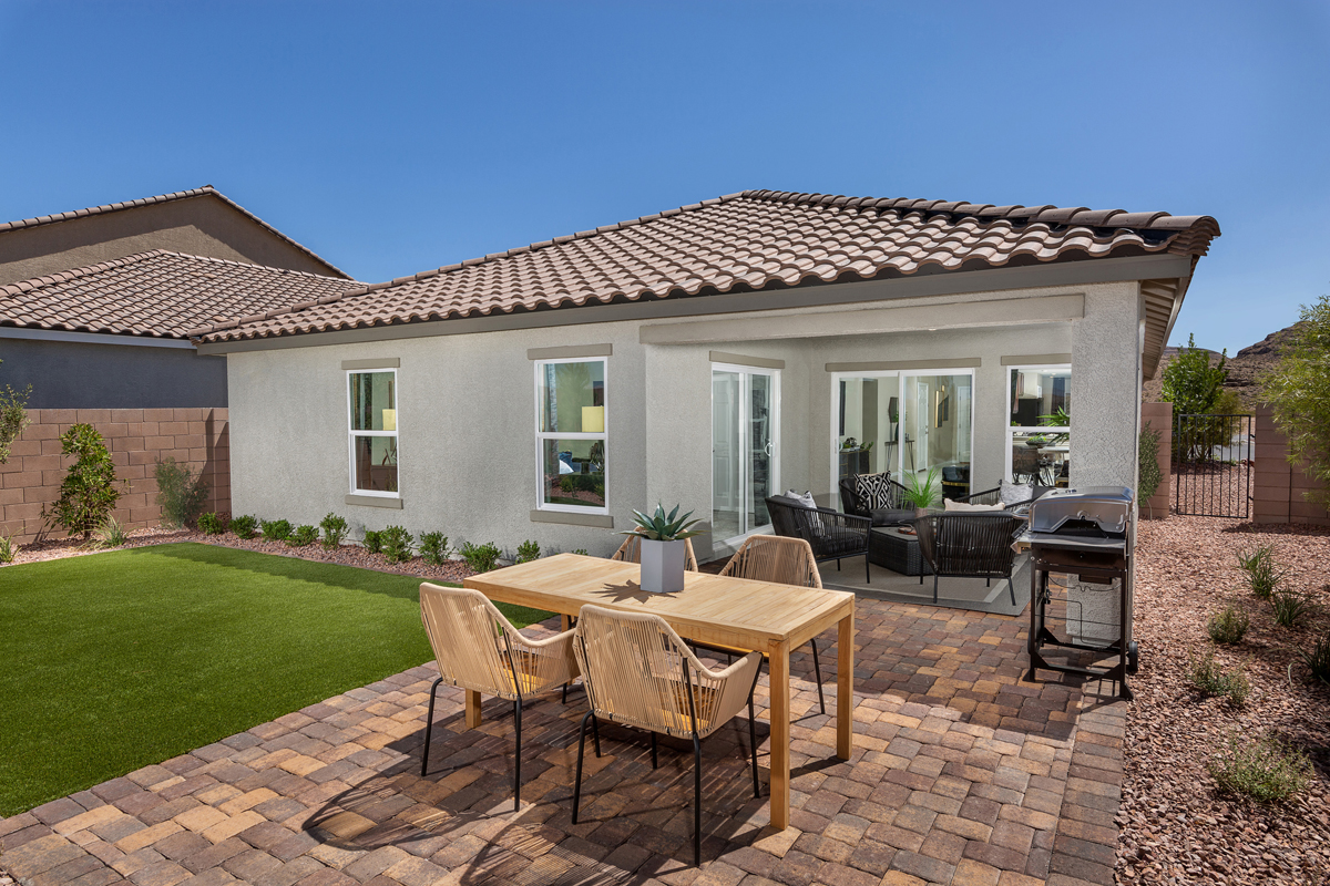 New Homes in Las Vegas, NV - Reserves at Durham Ranch Plan 1589 Backyard