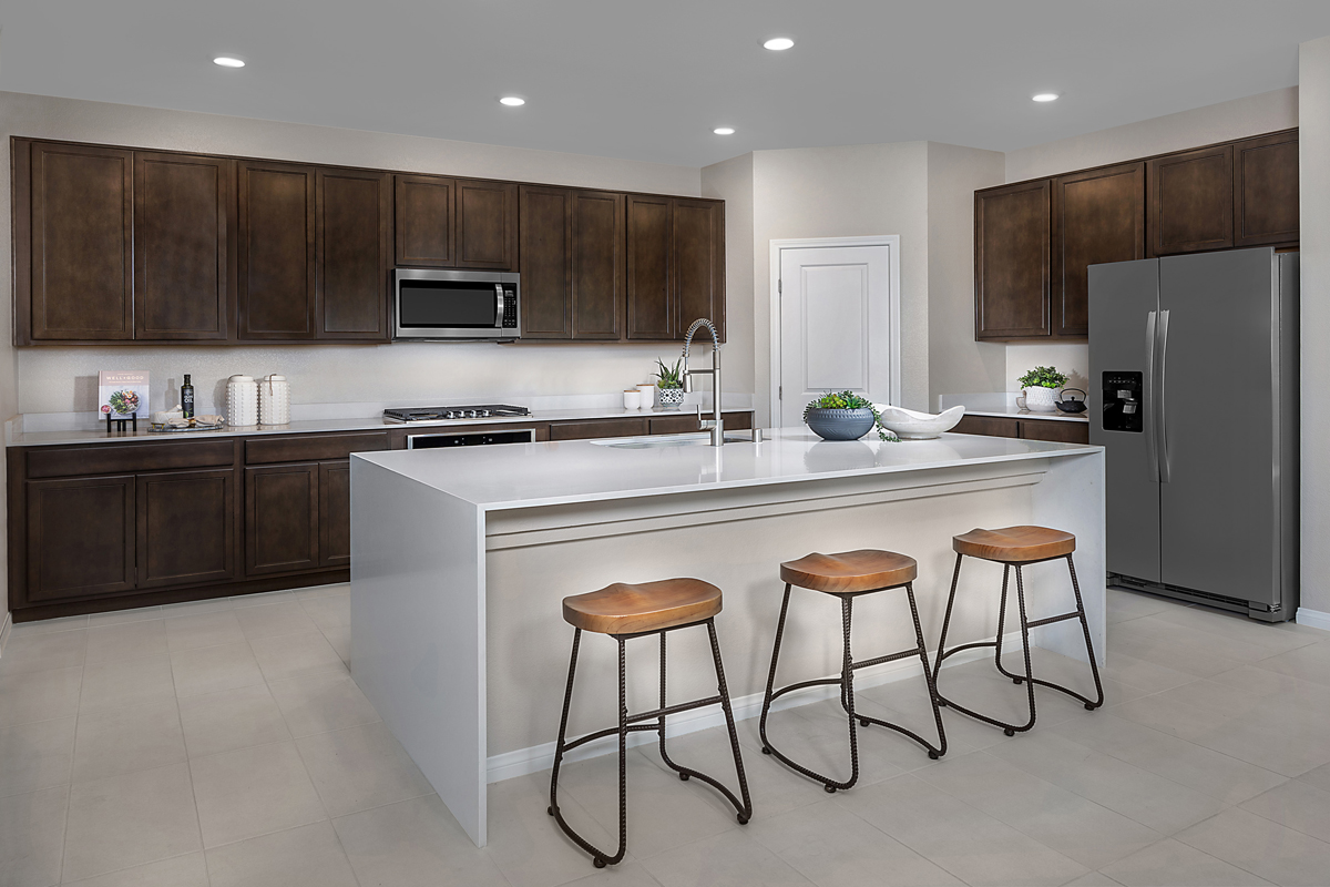 New Homes in Las Vegas, NV - Reserves at Durham Ranch Plan 3066 Kitchen