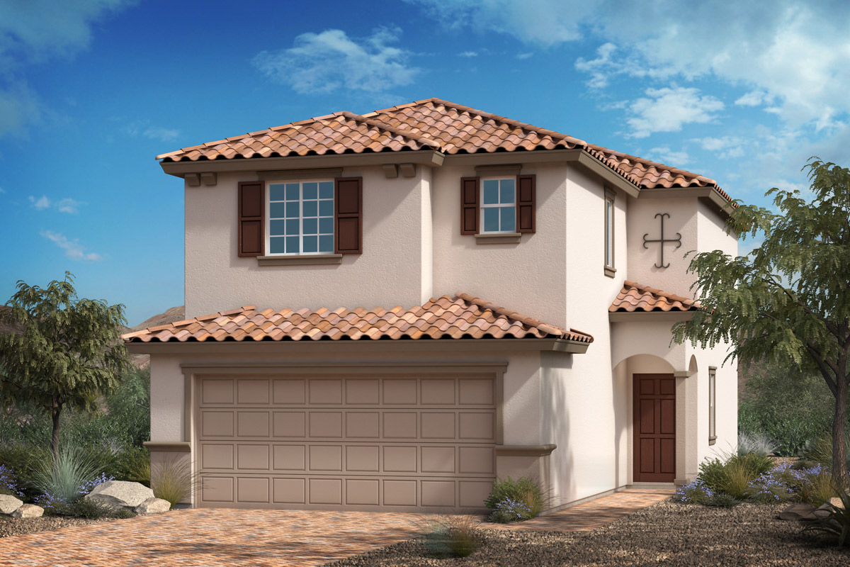 New Homes in Las Vegas, NV - Landings at Durham Ranch Plan 1416 Elevation E