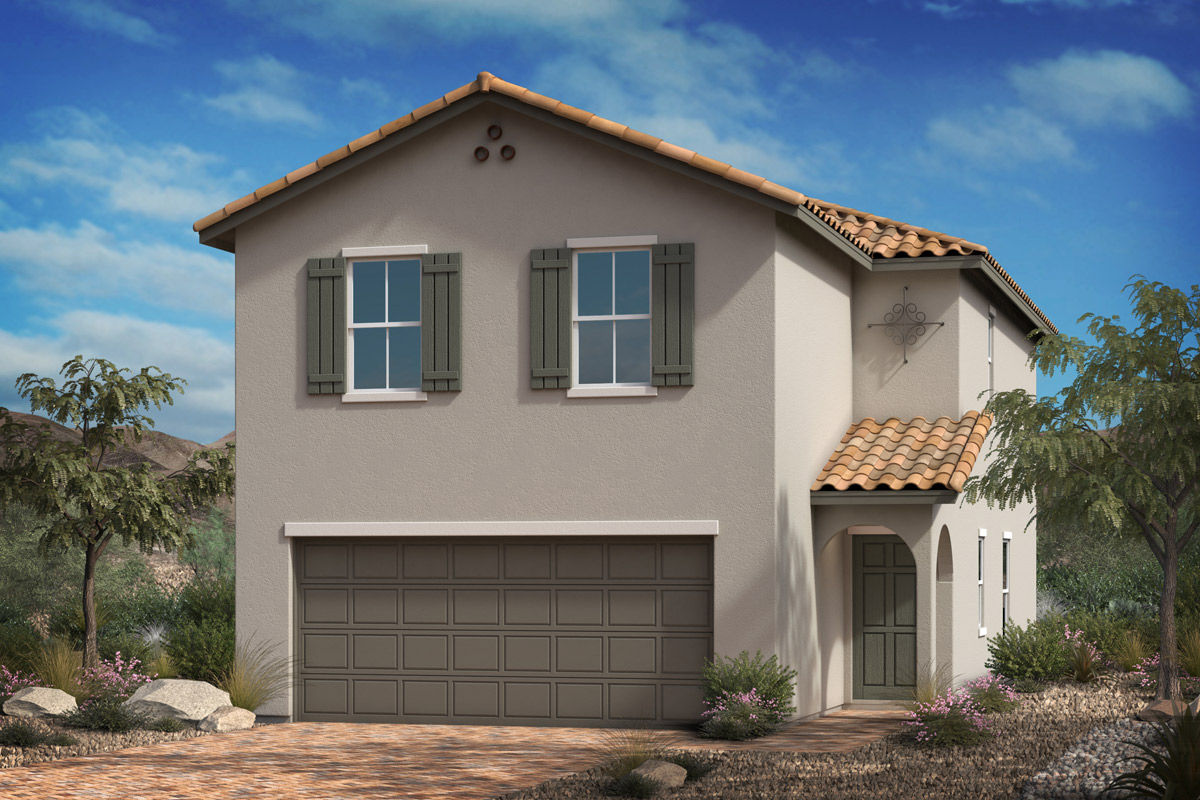 New Homes in Las Vegas, NV - Landings at Durham Ranch Plan 1768 Elevation A