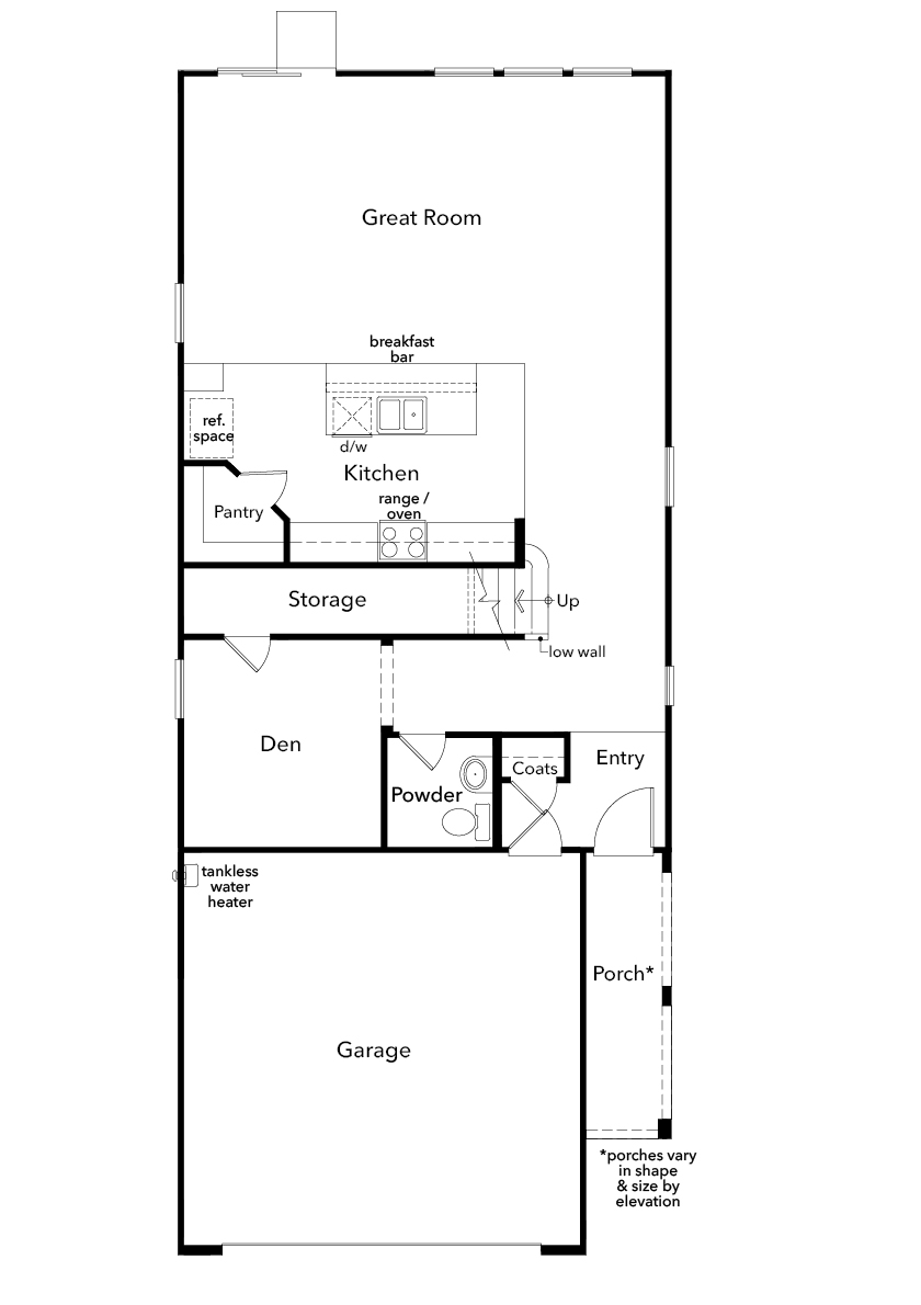 New Homes in Enterprise, NV - Plan 2469, First Floor