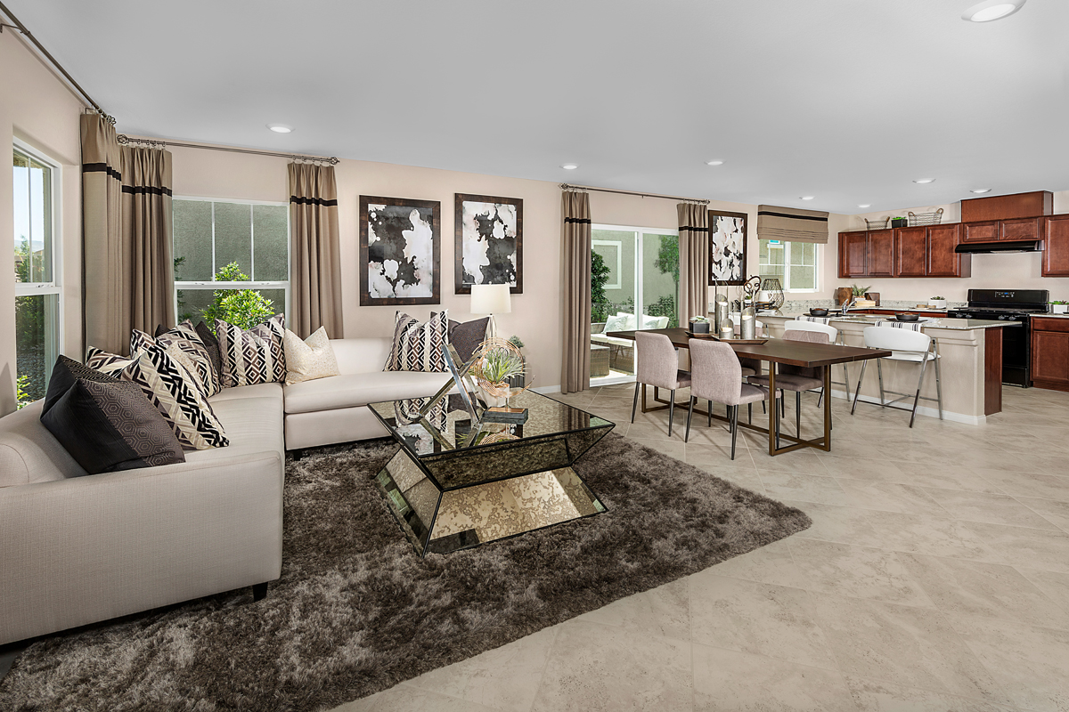 New Homes in Henderson, NV - Gardens at Inspirada Plan 1674 Great Room