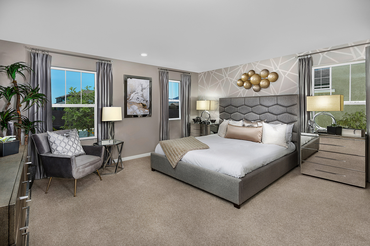 New Homes in Henderson, NV - Gardens at Inspirada Plan 1674 Master Bedroom