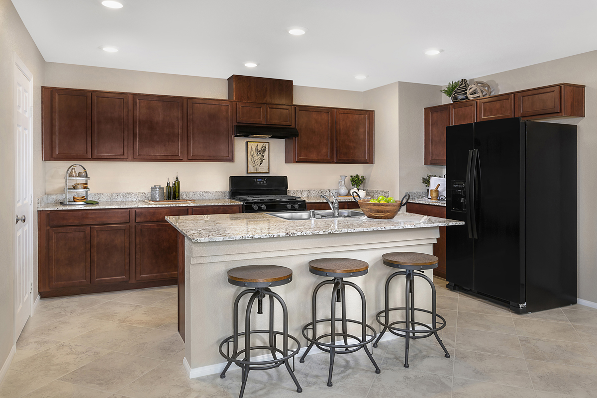 New Homes in North Las Vegas, NV - Gardens at Saddlebrook Plan 1812 Kitchen