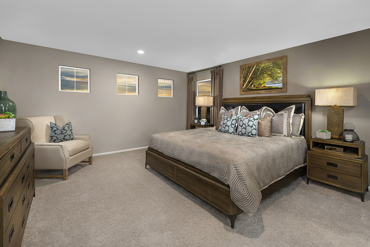 New Homes in North Las Vegas, NV - Gardens at Saddlebrook Plan 1812 Master Bedroom
