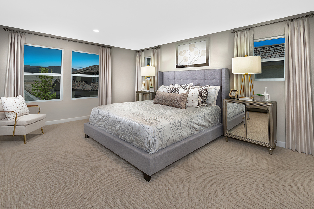 New Homes in North Las Vegas, NV - Gardens at Saddlebrook Plan 2041 Master Bedroom