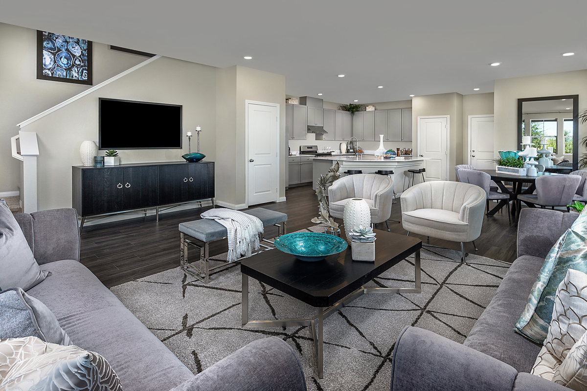 New Homes in Henderson, NV - Groves at Inspirada Plan 1736 Great Room