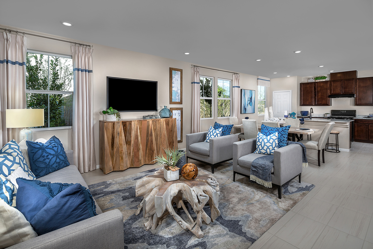 New Homes in Henderson, NV - Groves at Inspirada Plan 1843 Great Room