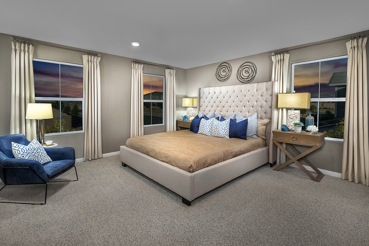 New Homes in Henderson, NV - Groves at Inspirada Plan 1843 Master Bedroom