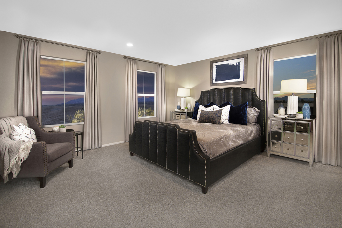 New Homes in North Las Vegas, NV - Groves at Saddlebrook Plan 1860 Master Bedroom