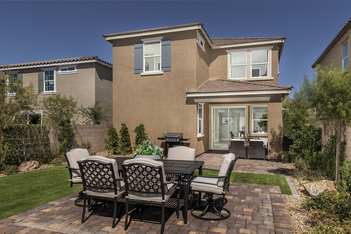 New Homes in Henderson, NV - Landings at Inspirada Plan 2089 Backyard