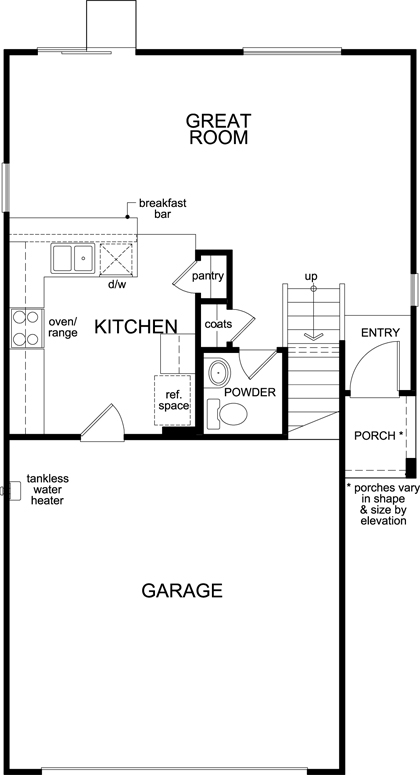 New Homes in North Las Vegas, NV - Plan 1416, First Floor