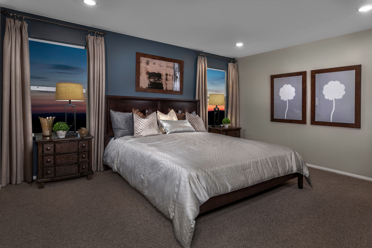 New Homes in North Las Vegas, NV - Landings at Tanglewood Plan 2115 Master Bedroom
