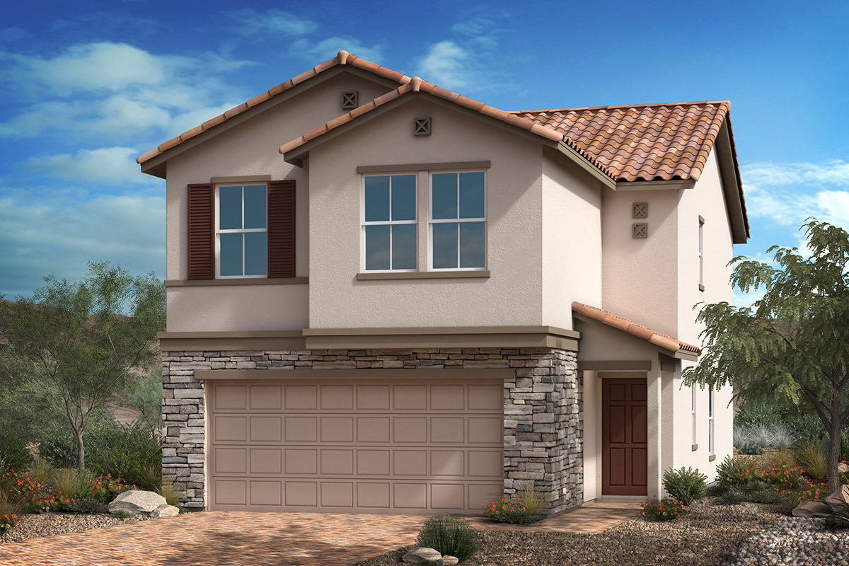 New Homes in Las Vegas, NV - Elevation B with stone