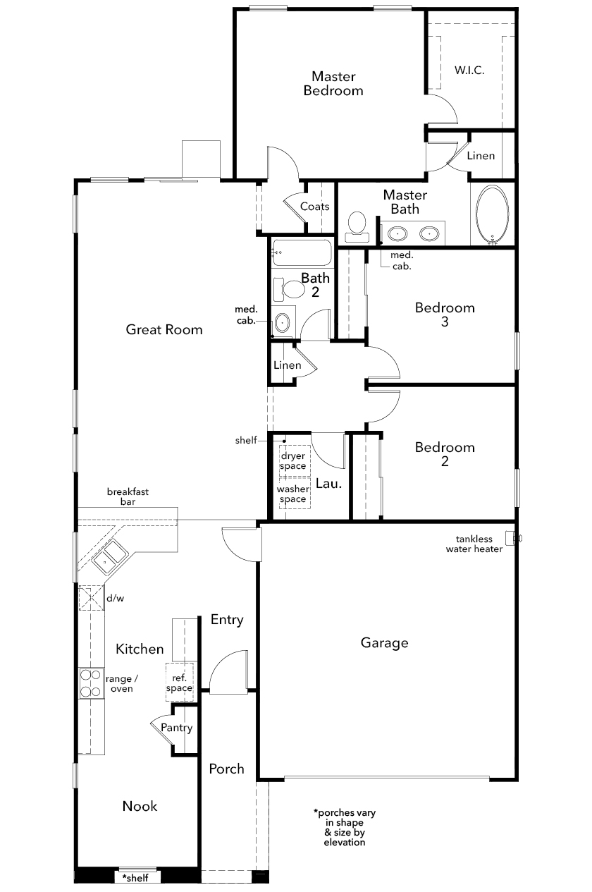 New Homes in Henderson, NV - Plan 1589 Modeled, First Floor