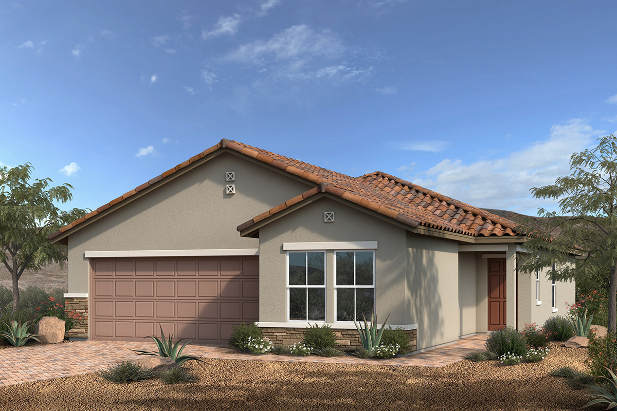 New Homes in Las Vegas, NV - Reserves at Montecito Plan 1550 Elevation B