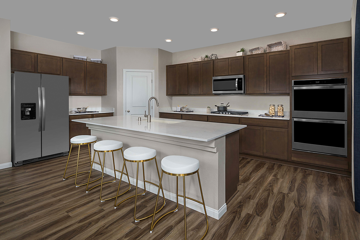 New Homes in Las Vegas, NV - Reserves at Montecito Plan 3066 Kitchen