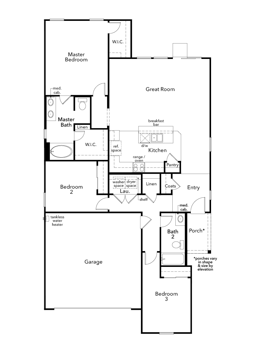 New Homes in Las Vegas, NV - Plan 1550, First Floor