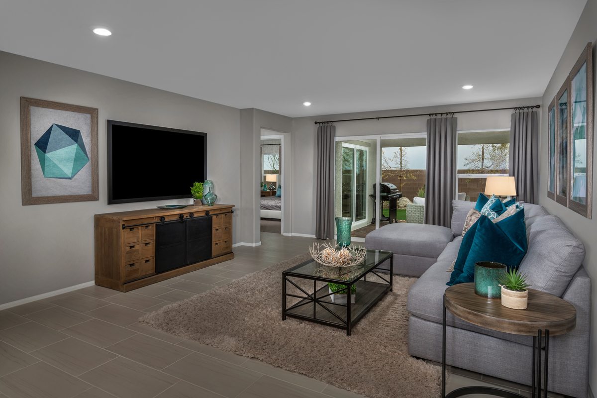 New Homes in North Las Vegas, NV - Reserves at Tanglewood Plan 1589 Great Room