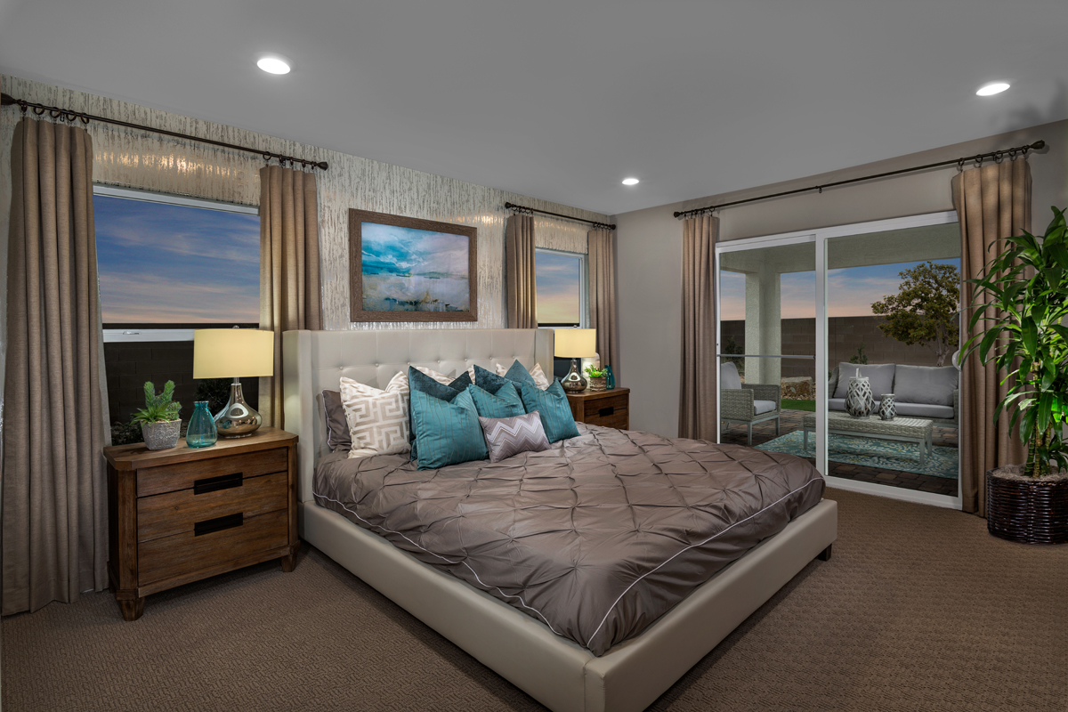 New Homes in North Las Vegas, NV - Reserves at Tanglewood Plan 1589 Master Bedroom