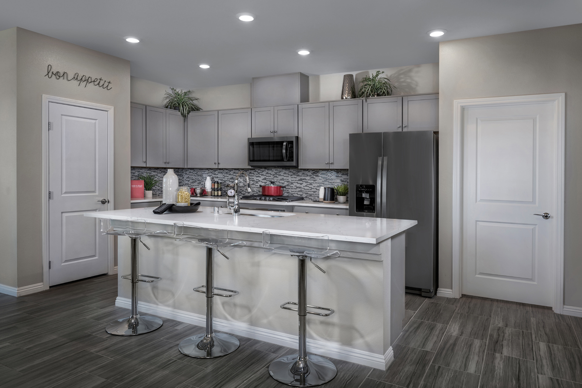 New Homes in North Las Vegas, NV - Reserves at Tanglewood Plan 1849 Kitchen